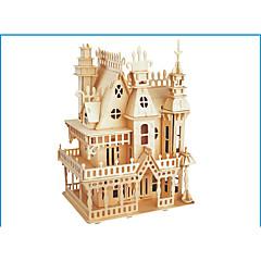 abordables Puzzles 3D-Puzzles 3D Puzzle Maquetas de madera Juguetes de construcción Castillo Edificio Famoso Madera Madera Natural Adulto Unisex Regalo