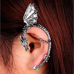 abordables Gemelos para la Oreja-Mujer 3D Puños del oído - Dragón damas, Punk Joyas Dorado / Negro / Plata Para Mascarada Calle