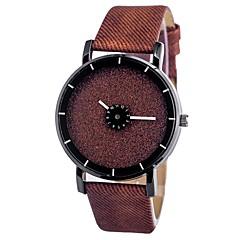 お買い得  メンズ腕時計-男性用 リストウォッチ クォーツ クロノグラフ付き キュート 光る レザー バンド ハンズ 光沢タイプ ファッション ブラック / 白 / ブルー - コーヒー ブルー ピンク 1年間 電池寿命
