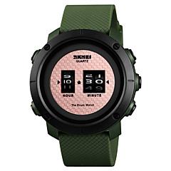 preiswerte Herrenuhren-SKMEI Sportuhr Armbanduhr Sender Wasserdicht, Kreativ, Neues Design Rotgold / Schwarz / Silber / Schwarz / Rotgold / Ein Jahr