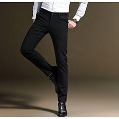 저렴한 남성 바지-남성용 정장 바지 - 단색 검정색