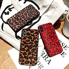 abordables Coques d'iPhone-Coque Pour Apple iPhone X / iPhone XS Max Antichoc Coque Motif Léopard Flexible TPU pour iPhone XS / iPhone XR / iPhone XS Max