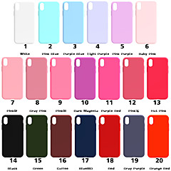 cheap Valentine's Day Sale-Case For Apple iPhone XR / iPhone XS Max Frosted Back Cover Solid Colored Soft TPU for iPhone XS / iPhone XR / iPhone XS Max