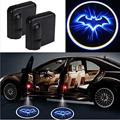 رخيصةأون أضواء LED العصرية-2PCS اللاسلكية باب السيارة أدى ضوء الليزر ضوء الإسقاط السيارات التصميم السيارات الداخلية مصباح الضوء