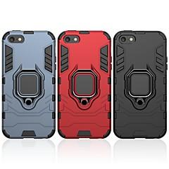 Недорогие Кейсы для iPhone-Кейс для Назначение Apple Кейс для iPhone 5 Защита от удара / Кольца-держатели Кейс на заднюю панель Однотонный / броня Твердый ПК для iPhone 5