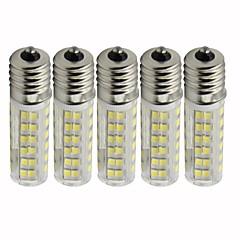 abordables Bombillas LED-5pcs 4.5 W 450 lm E17 Bombillas LED de Mazorca T 76 Cuentas LED SMD 2835 Regulable Blanco Cálido / Blanco Fresco 110 V