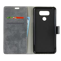Недорогие Чехлы и кейсы для LG-Кейс для Назначение LG LG V40 Кошелек / Бумажник для карт / Флип Кейс на заднюю панель Однотонный Твердый Кожа PU для LG V40