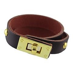 abordables Bijoux pour Femme-Femme Rivet Bracelets - Basique, Mode Bracelet Marron / Rouge / Bleu Pour Quotidien Ecole