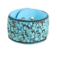 preiswerte Armbänder-Damen Synthetischer Turmalin Tropisch Lederarmbänder - Grundlegend, Modisch Armbänder Dunkelblau / Grau / Hellblau Für Alltag Schultaschen