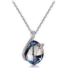 preiswerte Halsketten-Damen Blau Kristall Klassisch Anhängerketten - Diamantimitate, Österreichisches Kristall Romantisch, Modisch, Elegant lieblich Blau 50 cm Modische Halsketten Schmuck 1pc Für Party / Abend, Alltag