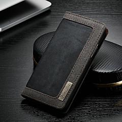 Недорогие Кейсы для iPhone-CaseMe Кейс для Назначение Apple iPhone XR Кошелек / Бумажник для карт / со стендом Чехол Однотонный Твердый текстильный для iPhone XR