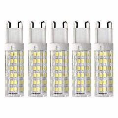 abordables Bombillas LED-5pcs 4.5 W 450 lm G9 Bombillas LED de Mazorca T 76 Cuentas LED SMD 2835 Regulable Blanco Cálido / Blanco Fresco 110 V