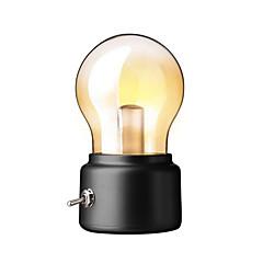 お買い得  LED アイデアライト-1pcクリエイティブレトロなUSB夜光充電式電球ランプ雰囲気ライトベッドルームベッドサイド照明暖かい白の色