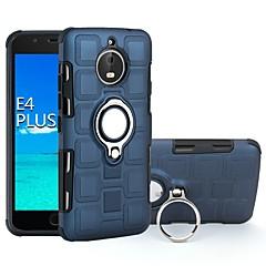Недорогие Чехлы и кейсы для Motorola-Кейс для Назначение Motorola E4 Plus / E4 Защита от удара / Кольца-держатели Кейс на заднюю панель броня Твердый ПК для Moto E4 Plus / Moto E4