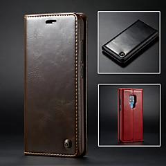 Недорогие Чехлы и кейсы для Huawei Mate-CaseMe Кейс для Назначение Huawei Huawei Mate 20 Pro / Mate 9 Кошелек / Бумажник для карт / со стендом Чехол Однотонный Твердый Кожа PU для Huawei Mate 20 pro / Huawei Mate 20 / Mate 9