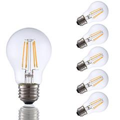 お買い得  LED 電球-GMY® 6本 3.5 W 350 lm E26 / E27 フィラメントタイプLED電球 A17 4 LEDビーズ COB 装飾用 温白色 120 V