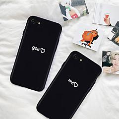 Недорогие Кейсы для iPhone 7 Plus-Кейс для Назначение Apple iPhone XR / iPhone XS Max С узором Кейс на заднюю панель Слова / выражения / С сердцем Мягкий ТПУ для iPhone XS / iPhone XR / iPhone XS Max