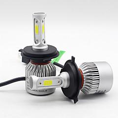 Недорогие Автомобильные фары-SO.K 2pcs H7 / H4 / H3 Автомобиль Лампы 25 W COB 6000 lm 3 Светодиодная лампа Противотуманные фары / Налобный фонарь Назначение Все года