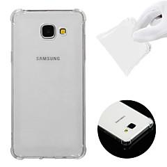 رخيصةأون وصلنا حديثًا-غطاء من أجل Samsung Galaxy A5(2016) ضد الصدمات / شفاف غطاء خلفي لون سادة ناعم TPU إلى A5(2016)