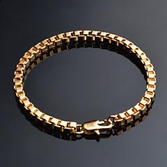 preiswerte Armbänder-Herrn Kubanischer Link Ketten- & Glieder-Armbänder - vergoldet Klassisch, Retro Armbänder Schmuck Gold Für Alltag Büro & Karriere