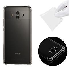 Недорогие Чехлы и кейсы для Huawei Mate-Кейс для Назначение Huawei Mate 10 Защита от удара / Прозрачный Кейс на заднюю панель Однотонный Мягкий ТПУ для Mate 10