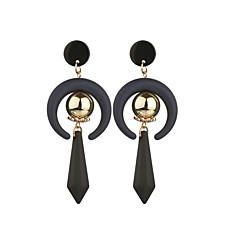 preiswerte Ohrringe-1 Paar Damen Birne Tropfen-Ohrringe - Harz vergoldet Spitze Grundlegend Schmuck Schwarz Für Normal