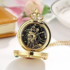 preiswerte Damenuhren-Damen Taschenuhr Quartz Gold Armbanduhren für den Alltag Cool Analog Freizeit Modisch - Gold Rot