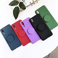 Недорогие Чехлы и кейсы для Huawei Mate-Кейс для Назначение Huawei P20 / Mate 10 pro со стендом / Матовое Кейс на заднюю панель Однотонный Мягкий ТПУ для Huawei P20 / Huawei P20 lite / Mate 10