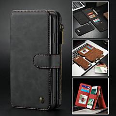 Недорогие Кейсы для iPhone 5-CaseMe Кейс для Назначение Apple iPhone X / iPhone 8 / iPhone 8 Plus Кошелек / Бумажник для карт / со стендом Чехол Однотонный Твердый Кожа PU для iPhone XS / iPhone XR / iPhone XS Max