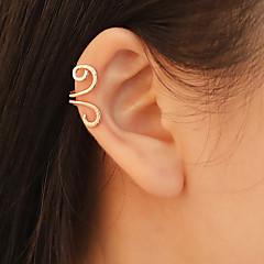 abordables Gemelos para la Oreja-Mujer Clásico Puños del oído - Simple, Moda Joyas Dorado / Negro / Plata Para Diario Trabajo