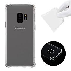 hesapli Yeni Gelenler-Pouzdro Uyumluluk Samsung Galaxy S9 Şoka Dayanıklı / Şeffaf Arka Kapak Solid Yumuşak TPU için S9
