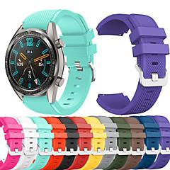 Недорогие -Ремешок для часов для Huawei Watch GT / Watch 2 Pro Huawei Спортивный ремешок силиконовый Повязка на запястье