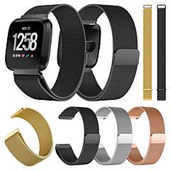 Недорогие -Ремешок для часов для Fitbit Versa / Fitbit Versa Lite Fitbit Миланский ремешок Металл / Нержавеющая сталь Повязка на запястье