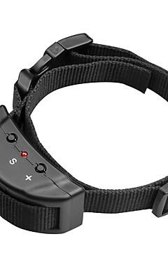 رخيصةأون -كلب النباح الياقة قابل للسحبقابل للتعديل مكافحة النباح / كهربائيإلكتروني لون سادة نايلون أسود