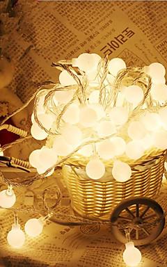رخيصةأون -10m 100 المصابيح الكرة على شكل سلسلة أضواء ac220v عطلة الديكور مصباح مهرجان عيد الميلاد أضواء في الهواء الطلق الإضاءة