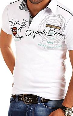 رخيصةأون -رجالي طباعة مقاس أوروبي / أمريكي تيشرت, لون سادة قبعة القميص نحيل