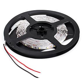 Недорогие Подарочные огни-JIAWEN 5 метров Гибкие светодиодные ленты 300 светодиоды 3528 SMD Белый Декоративная / Подсветка для авто / Самоклеющиеся 12 V 1шт / IP44