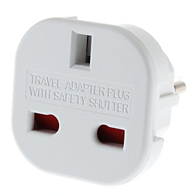 cheap Computer Peripheral Accessories-EU Plug to Multiple Plug Universal Round Travel Adapter with Safety Shutter (110-240V)