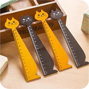 baratos Até R$ 3,39-forma gato régua de madeira (cor aleatória)
