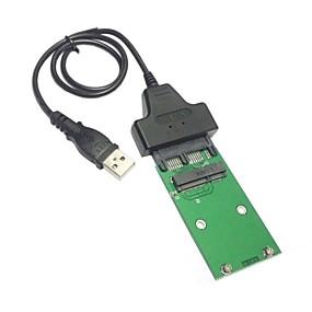 """economico Accessori per PC e Tablet-usb 2.0 a mini PCI-E SSD mSATA da 1,8 """"micro SATA 7 + 9 16pin aggiungere sulle carte PCBA per hard disk ssd"""