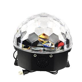 Недорогие Светодиодные театральные лампы-18w rgb led mp3 stage crystal magic ball light eu (ac100-240v)