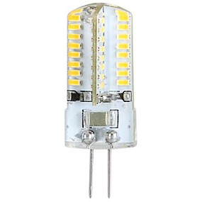 abordables Luces LED de Doble Pin-YWXLIGHT® 1pc 3 W Luces LED de Doble Pin 300 lm G4 T 64 Cuentas LED SMD 3014 Blanco Cálido 100-240 V 3 V