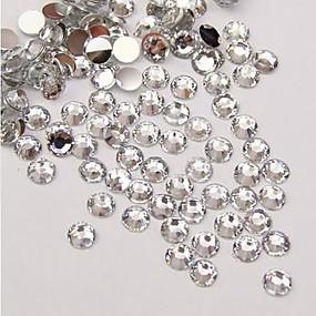 billige Hjem & Køkken-5000pcs gennemsigtige flatback harpiks perler 3mm håndlavede diy håndværk materiale / tøj tilbehør