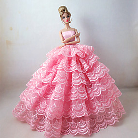 cheap Toy & Game-Princess Dresses For Barbie Doll Polyester Dress For Girl's Doll Toy