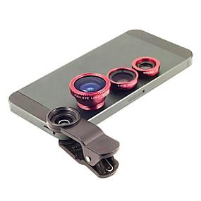 billige Linser til mobiltelefoner-Metal Fiskeøjeobjektiv Vidvinkelsobjektiv 1X Objektiv med stativ Universelle
