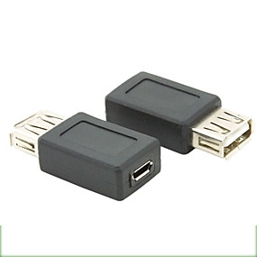 cheap PC&Tablet Accessories-USB 2.0 Female to Micro USB 2.0 Female Adapter