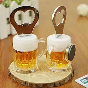 ieftine Bucătărie & Masă-2 in 1 bere din oțel inoxidabil în formă de deschizator de sticle cu magnet frigider memo