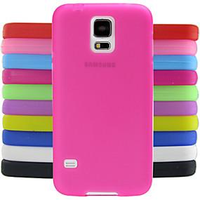 halpa Galaxy S -sarjan kotelot / kuoret-Etui Käyttötarkoitus Samsung Galaxy Samsung Galaxy kotelo Iskunkestävä Takakuori Yhtenäinen Silikoni varten S5