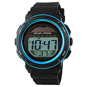 voordelige Merk Horloge-SKMEI Heren Sporthorloge Polshorloge Digitaal horloge Digitaal Rubber Zwart 30 m Waterbestendig Alarm Kalender Digitaal Goud Blauw Twee jaar Levensduur Batterij / Chronograaf / Zonne-energie / LCD