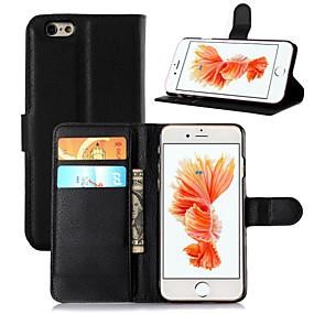abordables Coques d'iPhone-étui de ji pour iphone xr xs xs max portefeuille / porte-carte / avec support solide en cuir PU de couleur solide pour iphone x 8 8 plus 7 7plus 6s 6s plus se 5 5s